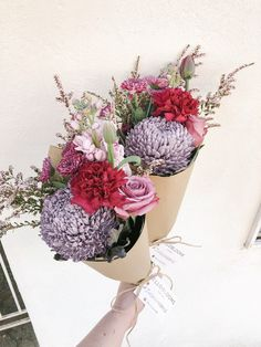 Our daily posy features stunning disbuds, carnations, rose, stock, tulip and thryptomene. Delivering to over 300 Melbourne suburbs. Plants Delivered, Flowers Delivered, Carnations, Tulips, Melbourne Suburbs, Order Flowers, All Gifts, Flower Crown, Planting Flowers