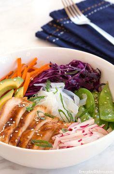 Asian chicken power bowl recipe