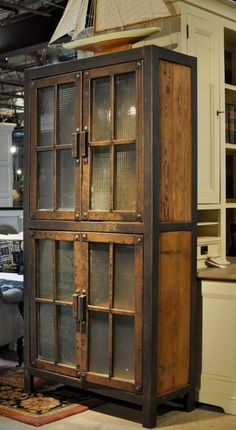 4 Accomplished Clever Tips: Industrial House Wire Baskets industrial chic warehouse.Industrial Shelving With Baskets. Vintage Industrial Furniture, Industrial House, Metal Furniture, Rustic Furniture, Antique Furniture, Diy Furniture, Furniture Design, Industrial Bathroom, Furniture Outlet