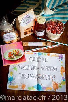 Tuto pour créer un panier apéro : cadeau gourmand idéal de vacances à offrir aux maitresses !