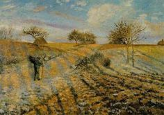 Camille Pissarro, Escarcha. El camino viejo de Ennery, 1873