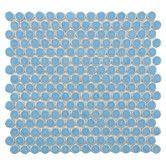 "Found it at AllModern - Penny  3/4"" x 3/4"" Porcelain Glazed and Glossy Mosaic in Light Blue"