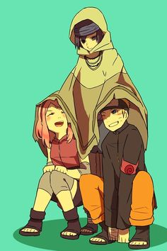 team 7 cuteness. They're so adorable.