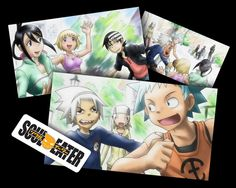 'Soul Eater Group Playing Basketball'