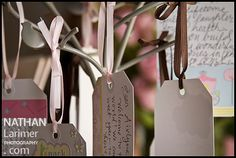 Wishing tree full of advice and love tags to add to my scrapbook French Countryside, Country French, Adult Birthday Party, It's Your Birthday, Love Tag, My Scrapbook, Keepsakes, Cool Diy, Baby Shower Decorations