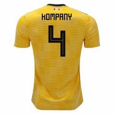 2018 World Cup Jersey Belgium Away Kompany Replica Yellow Shirt  CFC301  Yellow  Shirts 005a6135e