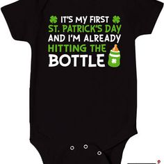 First St. Patrick's Day Bodysuit Funny Baby Clothes Onepiece Gifts For Baby Toddler T Shirt Cute Creeper Romper patricks day outfit boy Funny Baby Clothes, Funny Babies, Baby Shirts, Kids Shirts, Boy Onesie, Onesies, St. Patrick's Day Diy, Best Friend Day, Independance Day