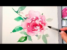 [LVL4] Watercolor flower painting wet on wet technique - YouTube