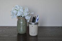 Sage & Ivory Silk Mason Jar Set Mason Jar by HendersonHouseCreate