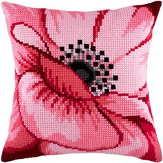 """Купить """"Розовый цветок Z-37"""". Производитель: Чарівниця. Раздел: Наборы для вышивки подушек крестом/Вышивание"""