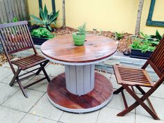 Cable Reel Outdoor Table DIY