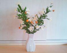 portakal çiçeği, orange blossom, ipek, ipek böcekciliği, ipek kozası, koza çiçeği, ipek kozasından çiçek, silk, silk cocoon, silk flower, ipek el sanatları, www.ipekelsanatlari.com