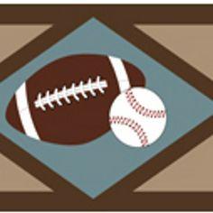 All Star Sports Wallpaper Border by Sweet Jojo Designs #football #baseball
