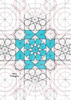 Jb0126e #jaybonner #geometry #symmetry #handmade #mathart #regolo54 #islamic_art