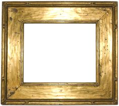 American 20th century hand carved and gilded arts and crafts cassetta frame, by Newcomb Macklin