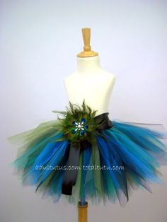 Peacock Feather Tutu Costume Youth to Adult LG. $69.00, via Etsy.