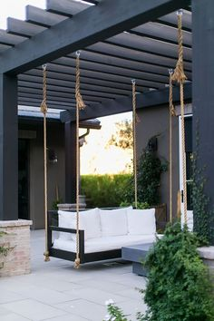 Pergola Design Ideas that are quite interesting and suitable for outdoor areas in your home. Black Pergola Backyard with a black and white color scheme Black Pergola Backyard Outdoor Pergola, Wooden Pergola, Backyard Pergola, Outdoor Areas, Pergola Kits, Backyard Landscaping, Outdoor Decor, Pergola Lighting, Pergola Swing