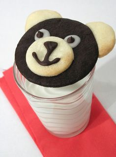 how to make easy Teddy Bear cookies at Kids Kubby