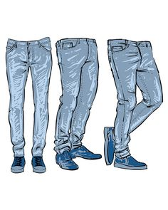 Hand Drawn Fashion Design Men S Jeans Clipart Commercial Use Man Jeans Pants And Shorts Clip. Jeans Drawing, Drawing Clothes, Daily Fashion, Mens Fashion, Fashion Outfits, Illustration Mode, Illustration Fashion, Fashion Photography Poses, How To Draw Hands