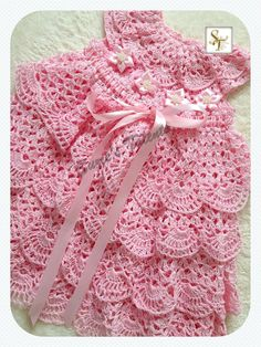 Special Occasion Baby Dress Crochet Baby by SuziesTalents on Etsy                                                                                                                                                                                 More