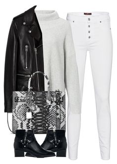 """""""Untitled #4131"""" by maddie1128 ❤ liked on Polyvore featuring 7 For All Mankind, The Row, Yves Saint Laurent and Zara"""