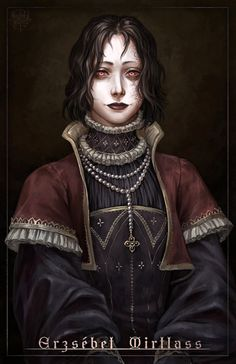 At first glance wears anachronistic clothes for the period (alternate But as an undead noblewoman she'd be above (or just oblivious) of current fashions Fantasy Character Design, Character Concept, Character Inspiration, Character Art, Concept Art, Character Ideas, Dark Fantasy Art, Fantasy Rpg, Medieval Fantasy