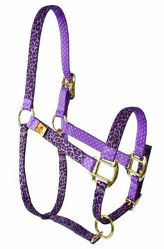 """Red Haute Horse LPUR1200MH High Fashion Horse Horse Halter, Leopard Purple by Red Haute Horse. $26.11. 2 layers of accenting pattern. Printed design on polyester braid. 100-percent vibrant color-fast polyester. Stylish functional halter for your horse. Made in the USA. High Fashion Horse """"Leopard Purple"""" Mini size halter. Make a statement with our """"High Fashion Horse"""" line of halters, featuring vibrant colorful designs printed on 100-percent polyester braid with an accen..."""