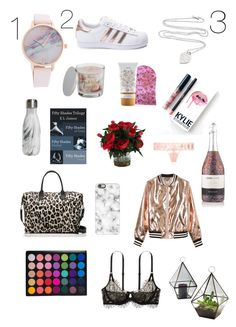 """""""17 Valentine's Day Gift Ideas"""" by shanalynn22 on Polyvore featuring adidas, Sans Souci, SONOMA Goods for Life, S'well, Casetify, Trilogy, Kylie Cosmetics, Victoria's Secret, Kate Spade and Tiffany & Co."""
