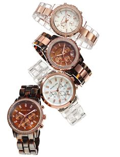 Michael Kors Watches With Rose Gold. Just got the bottom left for my bday!