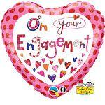 Balloon: 18'' Rachel Ellen On Your Engagement Foil Balloon (each)