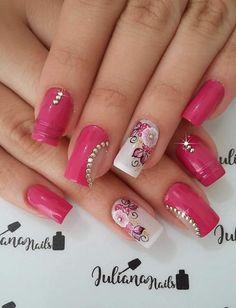 Fingernail Designs, Nail Polish Designs, Nail Art Designs, Colorful Nail Designs, Nail Designs Spring, Gorgeous Nails, Love Nails, Gel Nails, Acrylic Nails