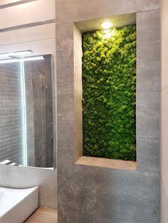 Restaurant Interior Design, Apartment Interior Design, Interior Decorating, Cute Bathroom Ideas, Bathroom Design Small, Foyer Design, Wall Design, Vertical Green Wall, Indoor Plant Wall