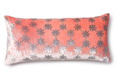Floral 7x15 Velvet Pillow, Coral on OneKingsLane.com