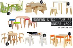 Modern Kids Tables u