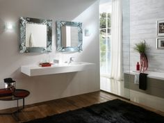 Zrcadlo Corallo SILVER 70x70 Double Vanity, Mirrors, Bathroom, Washroom, Full Bath, Bath, Mirror, Bathrooms, Double Sink Vanity