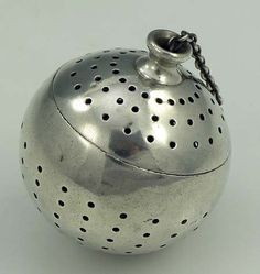 Tiffany sterling tea ball in original cloth