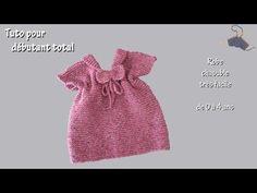 Tuto tricot pour débutant total : Chasuble pour bébé - YouTube