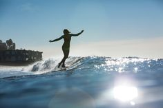 one foot in front of the other. Kassia Meador glides in the #SurfToSnow series @Olay Fresh Effects