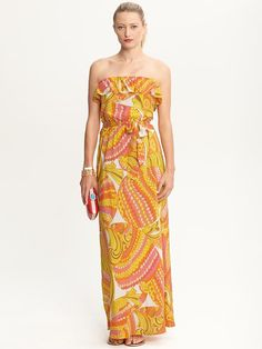 Banana Republic | Trina Turk Pisces strapless patio dress