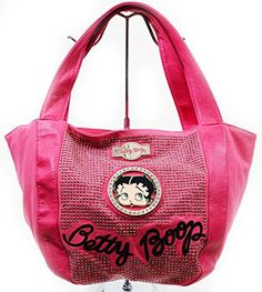 b7161580dd57 Betty Boop Pink Retro All Over Rhinestone Studded Fashion Tote Bag