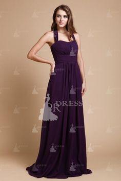 027a52c0606 Nice A-line Halter Sleeveless Ruffles Floor-Length Chiffon Bridesmaid  Dresses Encolure