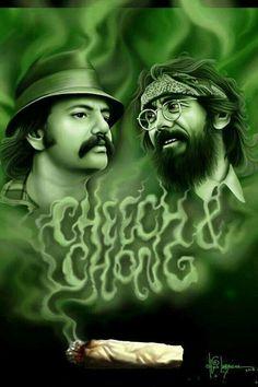 Cheech and Chong ( marijuana cannabis ) Marijuana Art, Medical Marijuana, Marijuana Funny, Cannabis Oil, Bob Marley, Cheech E Chong, Weed Wallpaper, Dragons, Et Tattoo