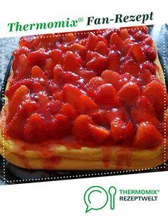 Käsekuchen mit Erdbeeren von RiXXi. Ein Thermomix ® Rezept aus der Kategorie Backen süß auf www.rezeptwelt.de, der Thermomix ® Community.