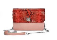 De Marquet - Night&Day: The Night&Day is a very versatile handbag with interchangeable covers that adapts to your style. This model features a light pink base and a red python cover. Find your combination at www. Day Bag, Day For Night, Python, Finding Yourself, Your Style, Base, Cover, Red, Pink