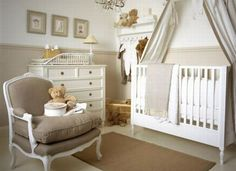 Neutral nursery - perfect for a family wanting to be surprised by the gender. Then just add pops of color after baby arrives!