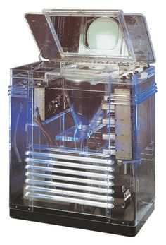 """TRK Television - RCA TRK-12 Phantom Teleceiver, """"the rarest TV set on the planet"""" from the 1939 New York World Fair. The guts on this beautiful unit were intentionally open and on display to remove any doubt that magic might have been responsible for the live images it displayed."""