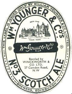 Younger's No.3. Best pint of beer made in Scotland