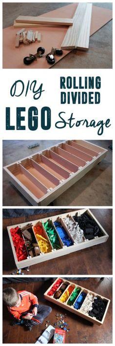 Rolling LEGO Sorter, DIY Lego Storage Bin, @LEGO #CreateBuildLEGOJUNIORS #Sponsored www.BrightGreenDoor.com