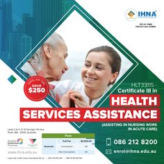 If you have a caring and tactful nature and are a good communicator then this course is for you! Enter into an active, physical career which provides assistance to healthcare staff and clients with the help of this course - Certificate III in Health Services Assistance. For course details, Contact 0862128200. #IHNA #HealthServiceAssistance #CertificateCourse #australia Nursing Australia, Nursing Courses, Certificate Courses, National Police, Acute Care, Nursing Assistant, Community Service, Saint George, Workplace