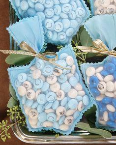 Crepe Paper Dreidel Treat Bags